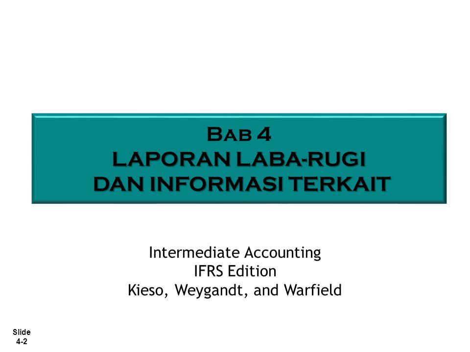 Slide 4-2 Bab 4 LAPORAN LABA-RUGI DAN INFORMASI TERKAIT DAN INFORMASI TERKAIT Intermediate Accounting IFRS Edition Kieso, Weygandt, and Warfield