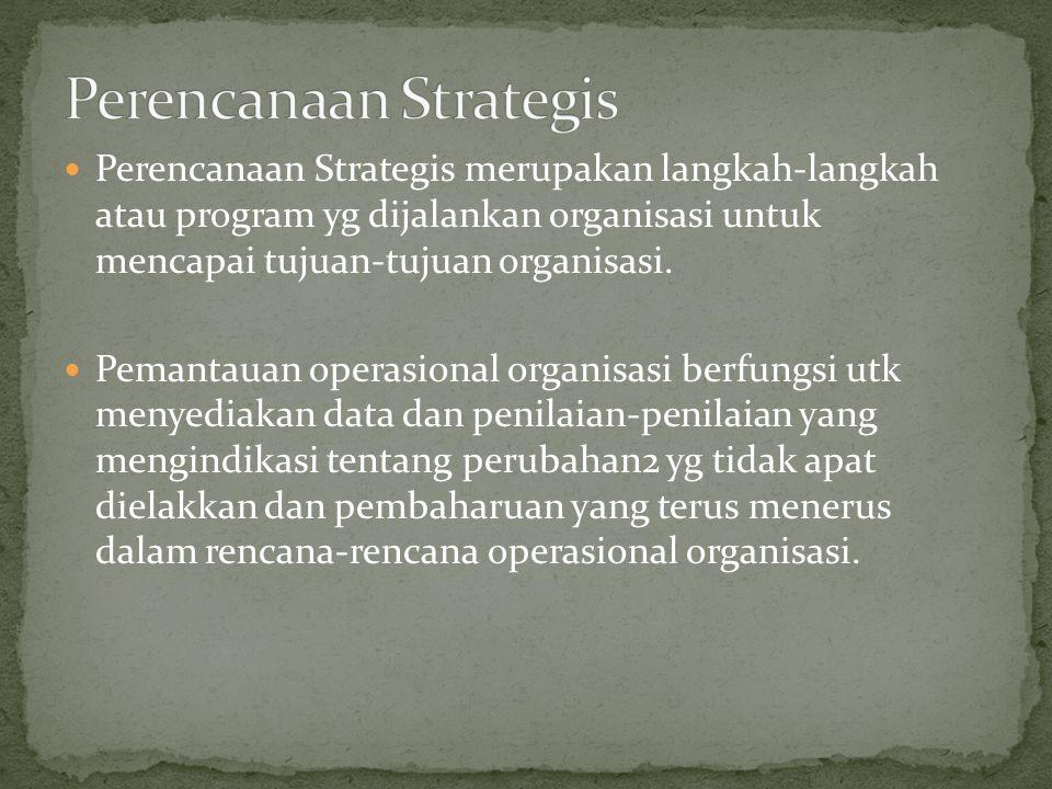 Perencanaan Strategis merupakan langkah-langkah atau program yg dijalankan organisasi untuk mencapai tujuan-tujuan organisasi.