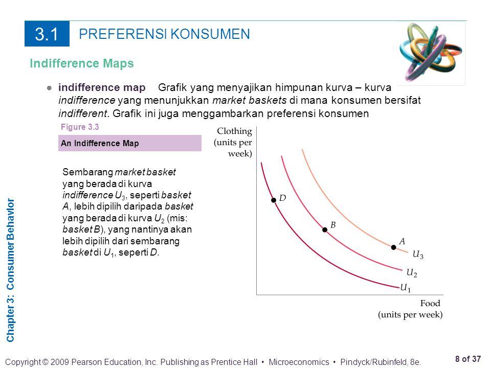 Chapter 3: Consumer Behavior 9 of 37 Copyright © 2009 Pearson Education, Inc.