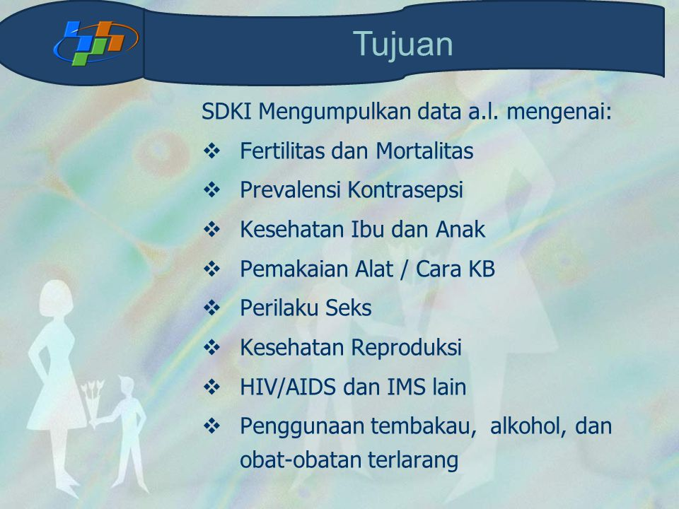 Modul WUS Daftar SDKI12-WUS terdiri dari: 1.Latar Belakang Responden 2.