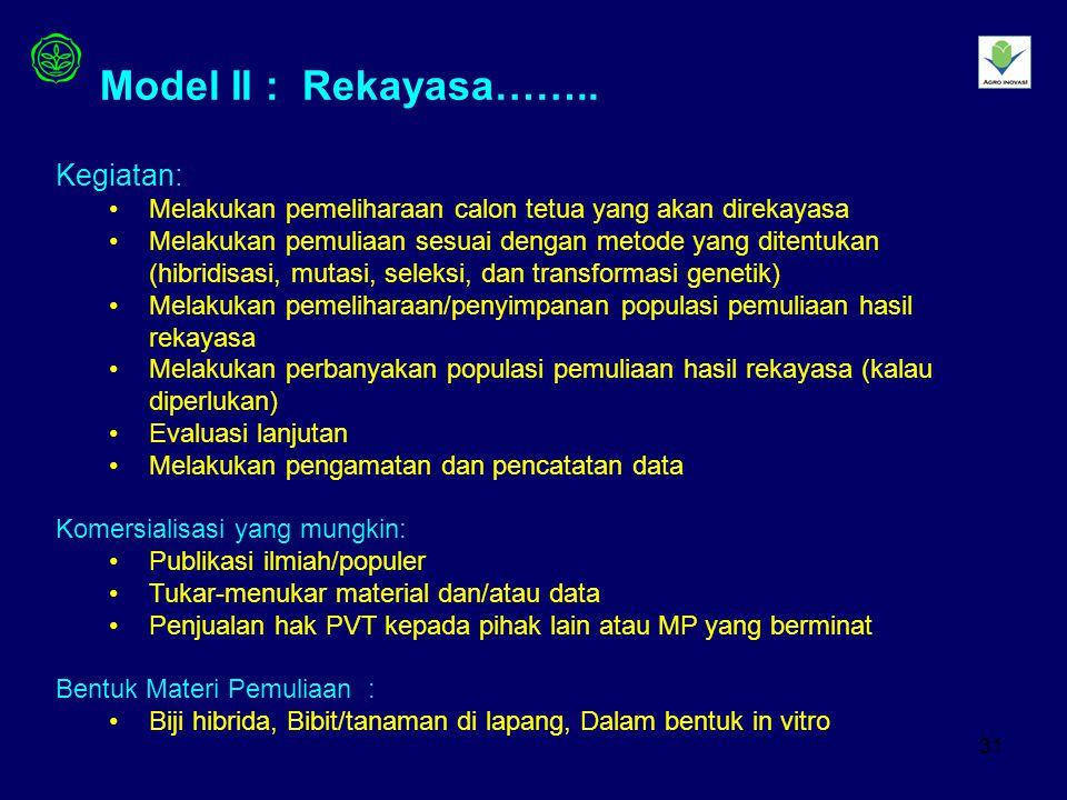 31 Model II : Rekayasa……..