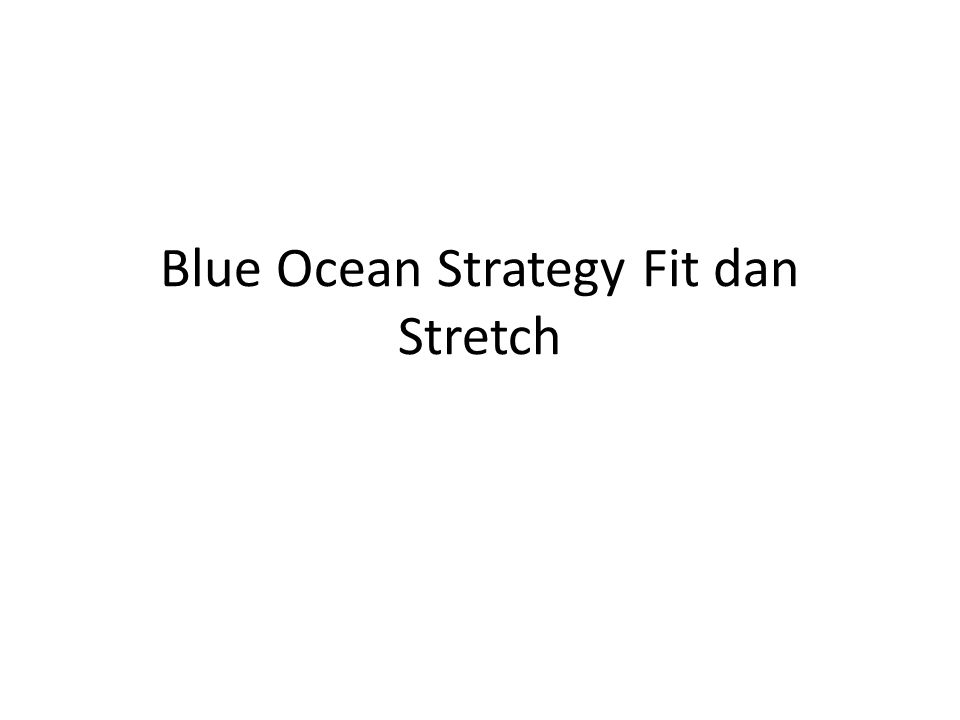 Blue Ocean Strategy Fit dan Stretch