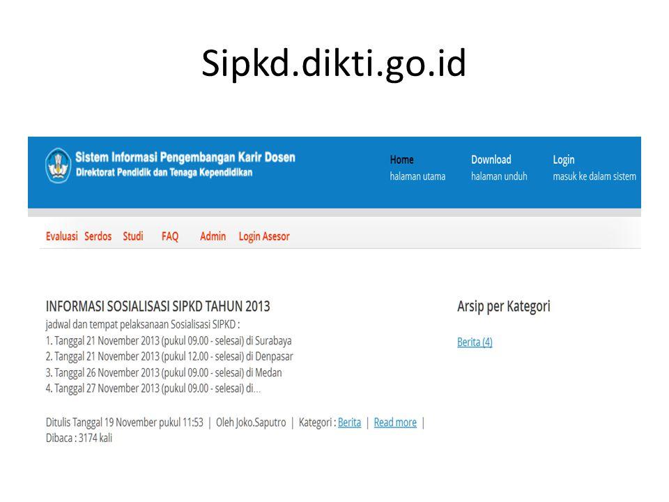 http://sipkd.dikti.go.id Login: nidn Passwd: nidn