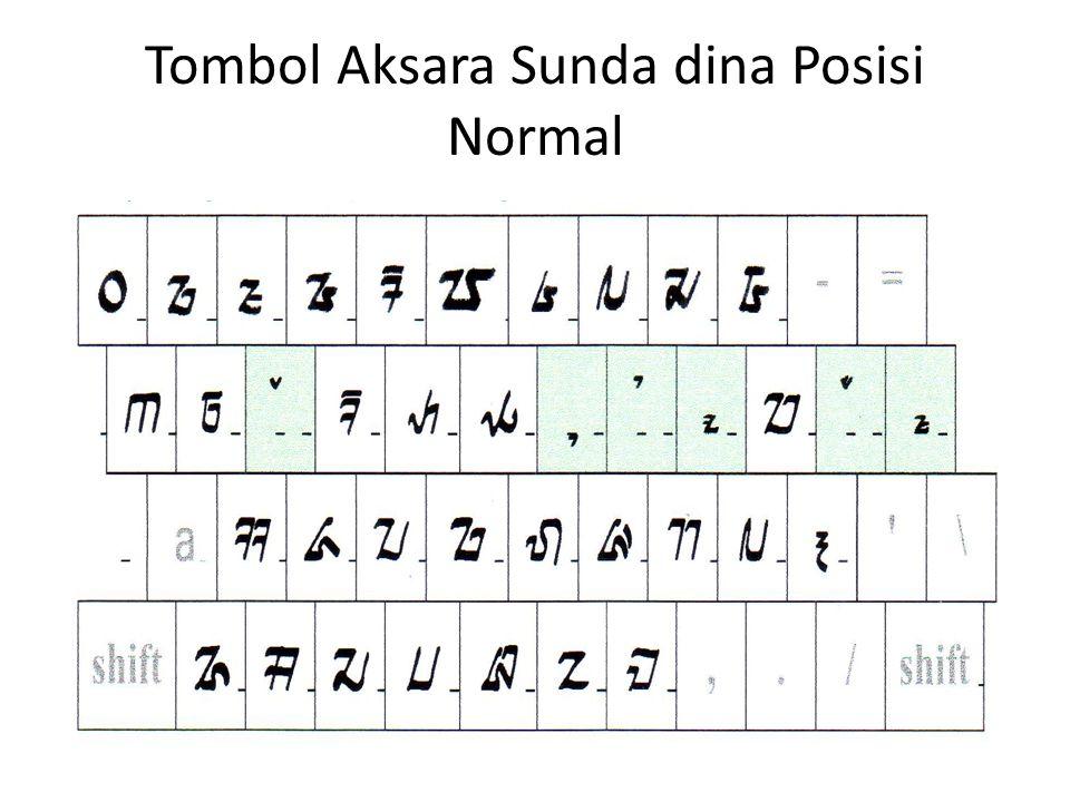Tombol Aksara Sunda dina Posisi Normal
