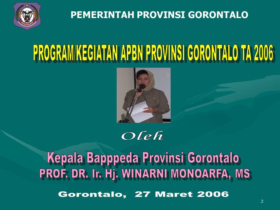 2 PEMERINTAH PROVINSI GORONTALO