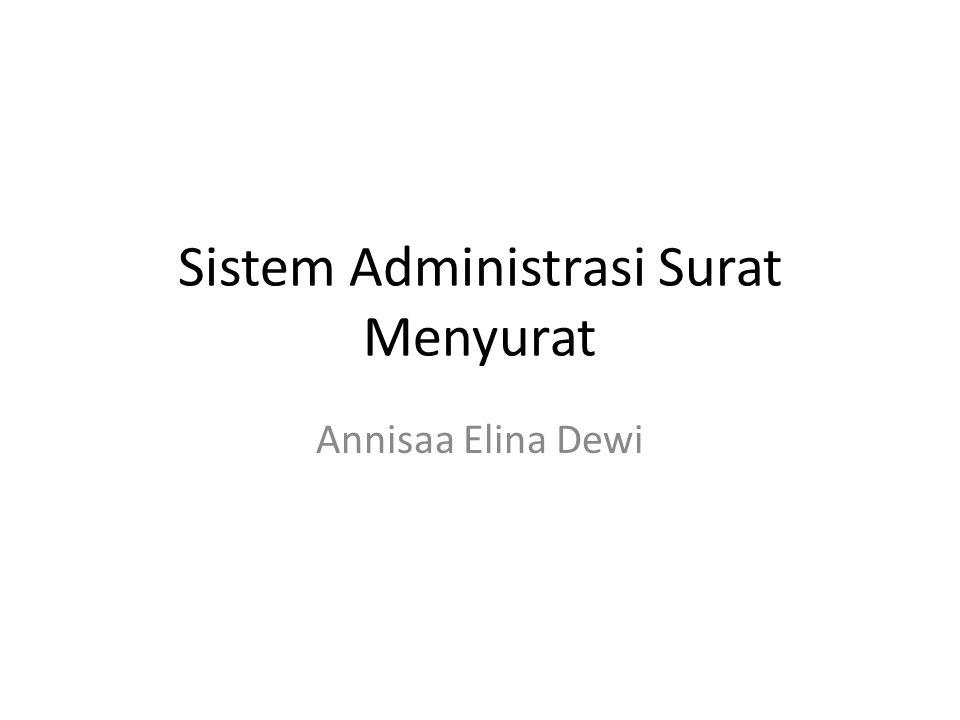Sistem Administrasi Surat Menyurat Annisaa Elina Dewi
