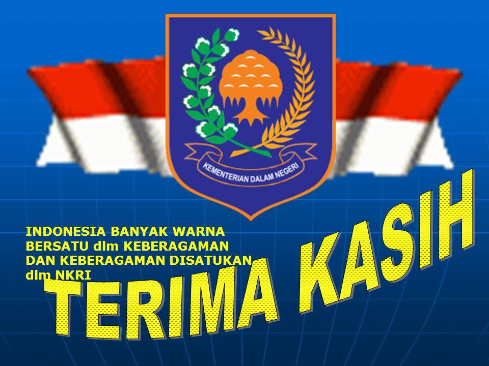INDONESIA BANYAK WARNA BERSATU dlm KEBERAGAMAN DAN KEBERAGAMAN DISATUKAN dlm NKRI