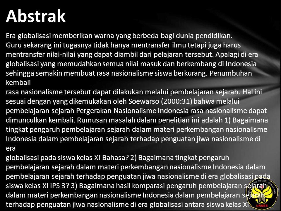 Kata Kunci Perkembangan Nasionalisme Indonesia, Sikap Nasionalisme.