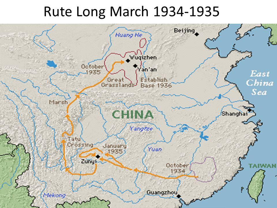 Rute Long March 1934-1935