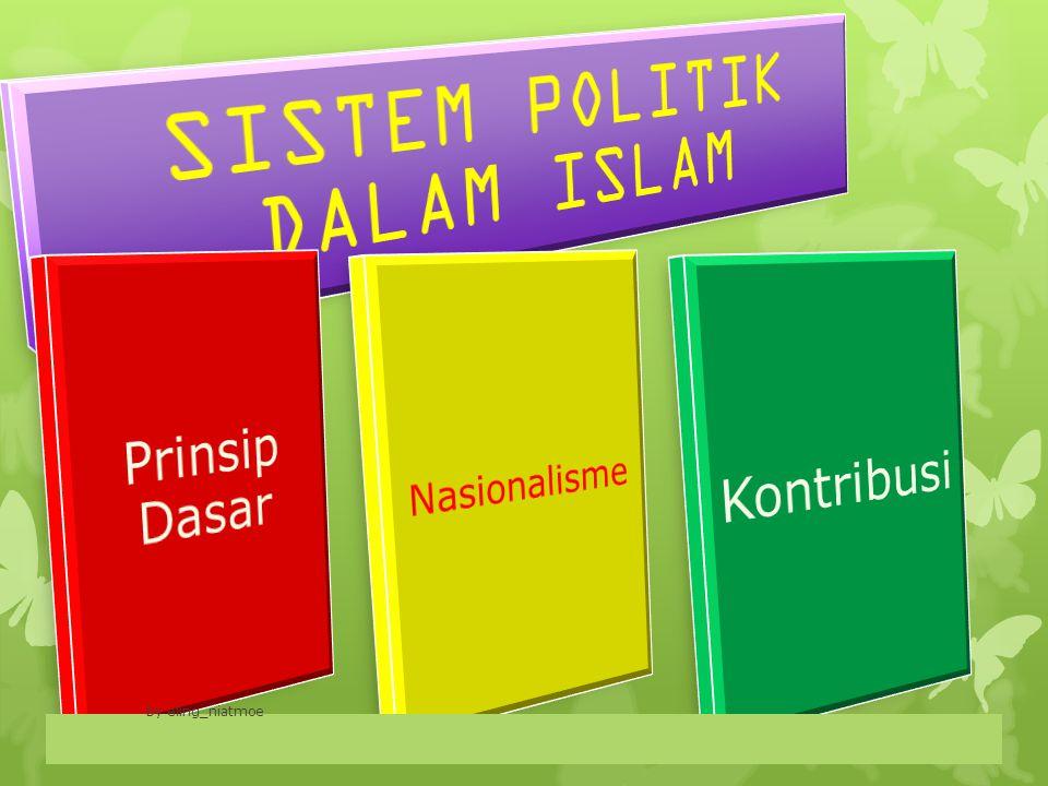 Pengertian Sistem Politik Dalam Islam Secara Etimologis, politik dalam bahasa arab sasa yasusu siyasatan ( ساس يسوس سياسة ) yang Bila dikatakan sasa al amra artinya dabbarahu (mengurusi/mengatur perkara).
