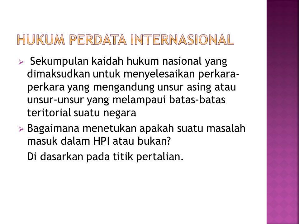  Faktor-faktor yang menciptakan bahwa suatu hubungan menjadi hubungan HPI  Terdiri dari : 1.