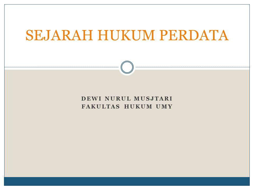 Berlakunya Hukum Perdata di Indonesia : KUH Perdata berasal dari kata Burgerlijk Wetboek (BW),yakni suatu Kitab Undang-undang Hukum Perdata yang dibuat oleh pemerintah Belanda untuk bangsa Belanda sendiri yang kemudian berdasarkan asas konkordansi serta dengan penyesuaian seperlunya dengan keadaan di Hindia Belanda diberlakukan di Hindia Belanda.