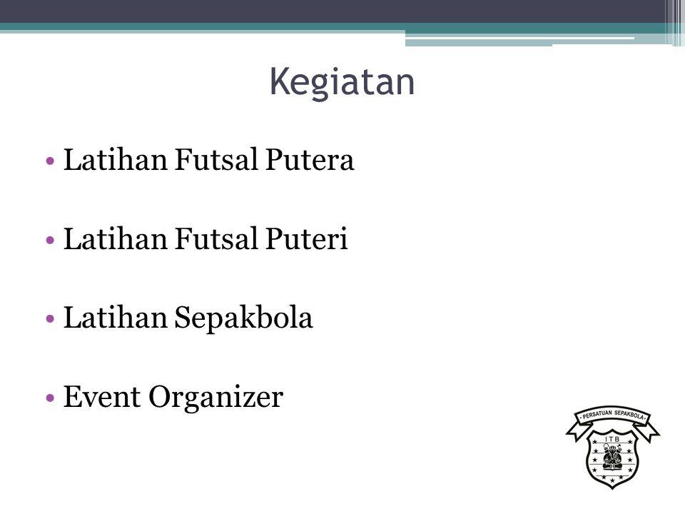 Kegiatan Latihan Futsal Putera Latihan Futsal Puteri Latihan Sepakbola Event Organizer