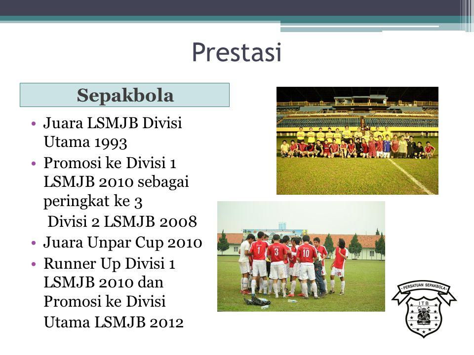 Prestasi Sepakbola Juara LSMJB Divisi Utama 1993 Promosi ke Divisi 1 LSMJB 2010 sebagai peringkat ke 3 Divisi 2 LSMJB 2008 Juara Unpar Cup 2010 Runner Up Divisi 1 LSMJB 2010 dan Promosi ke Divisi Utama LSMJB 2012