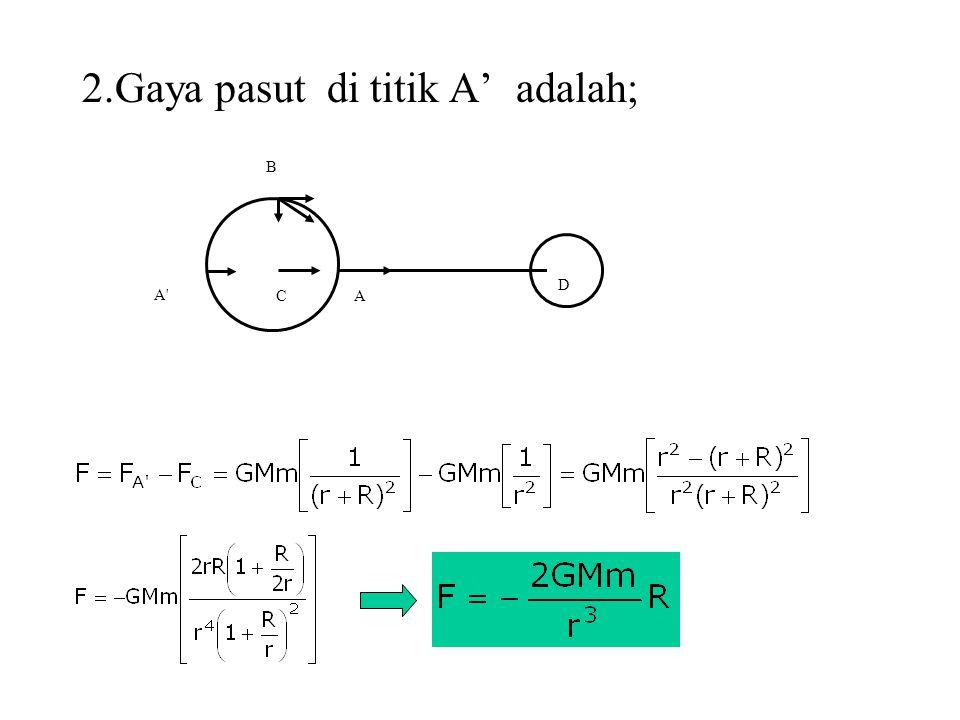 A' B CA D 2.Gaya pasut di titik A' adalah;