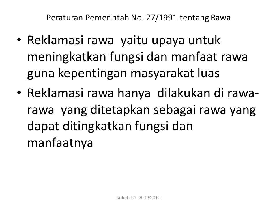 Mengapa Reklamasi Rawa? Swamp is our future Budidaya rawa memberi dukungan pada 1.Pengembangan produksi pertanian 2.Mendukung transmigrasi 3.Pengemban