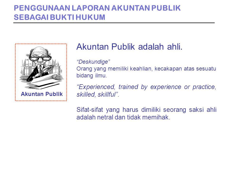 Akuntan Publik Akuntan Publik adalah ahli.
