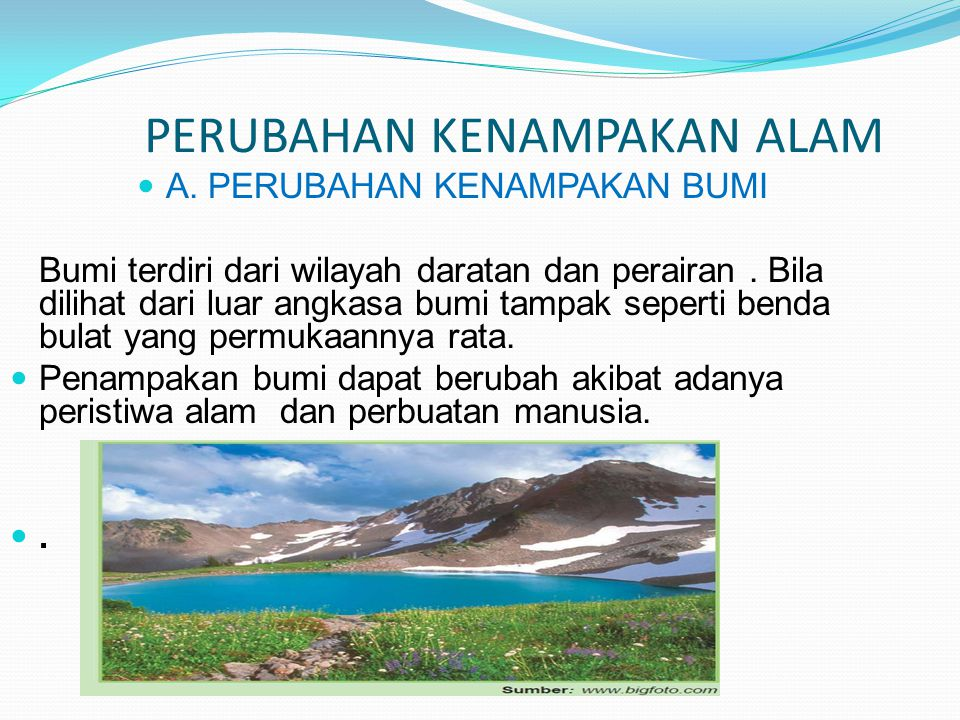 1.Pasang surut air laut.