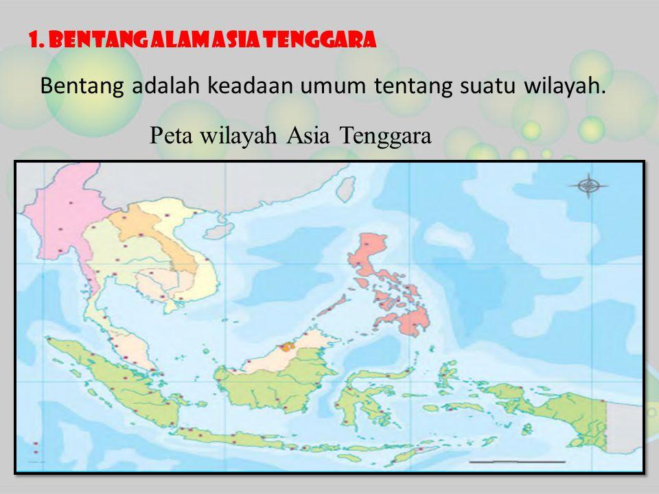 Dari gambar peta di atas dapat kita lihat bahwa wilayah Asia Tenggara terbagi atas dua bagian utama, yaitu berikut ini.