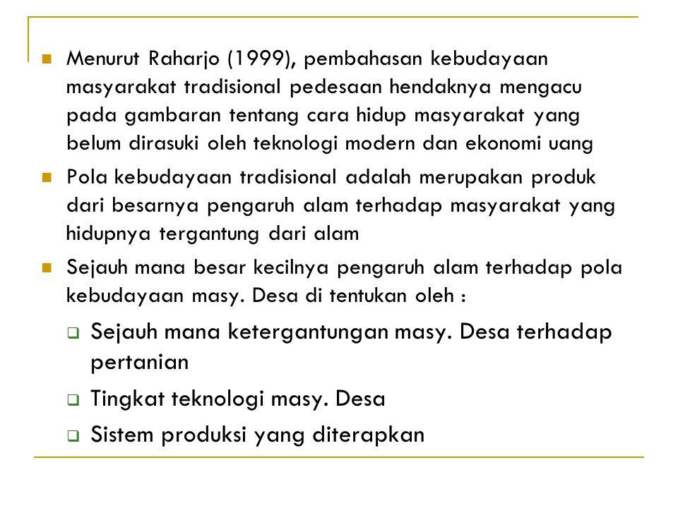 SISTIM NILAI BUDAYA MASYARAKAT PEDESAAN kebudayaan materilkebudayaan non materil Kebudayaan menurut Horton (1982), terbagi menadi kebudayaan materil d