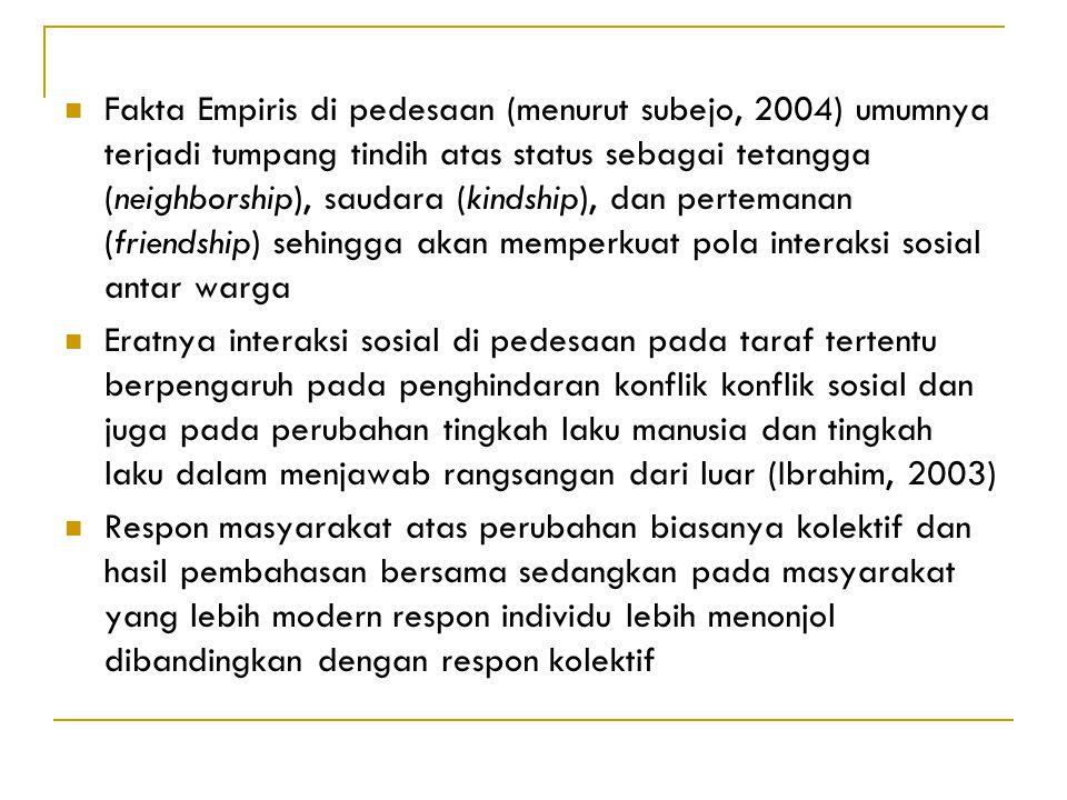 Akulturasi budaya dalam masyarakat perkebunan Pembauran antar etnis/ budaya yang ada Perubahan struktur, perilaku, sikap, watak, bahkan bahasa Penyimp