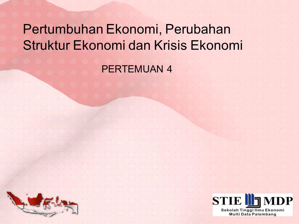 Pertumbuhan Ekonomi, Perubahan Struktur Ekonomi dan Krisis Ekonomi PERTEMUAN 4