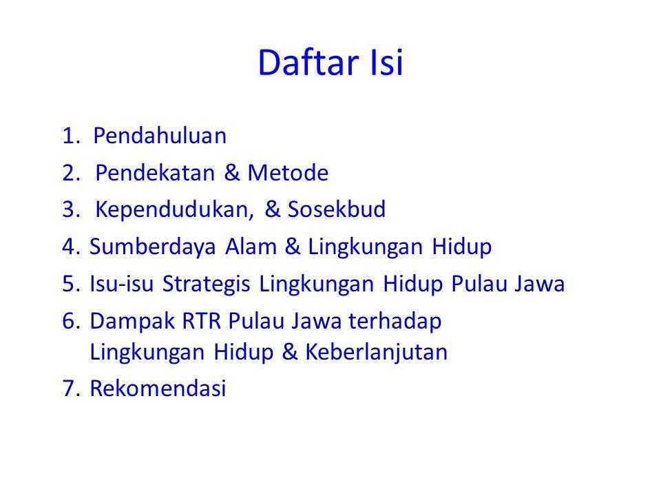 TUJUAN KAJIAN Kajian ini dimaksudkan untuk membahas, memberi tanggapan dan masukan perbaikan untuk Rancangan Peraturan Pemerintah (RPP) Rencana Tata Ruang (RTR) Pulau Jawa dan Bali dengan menggunakan instrumen Kajian Lingkungan Hidup Strategis (KLHS)