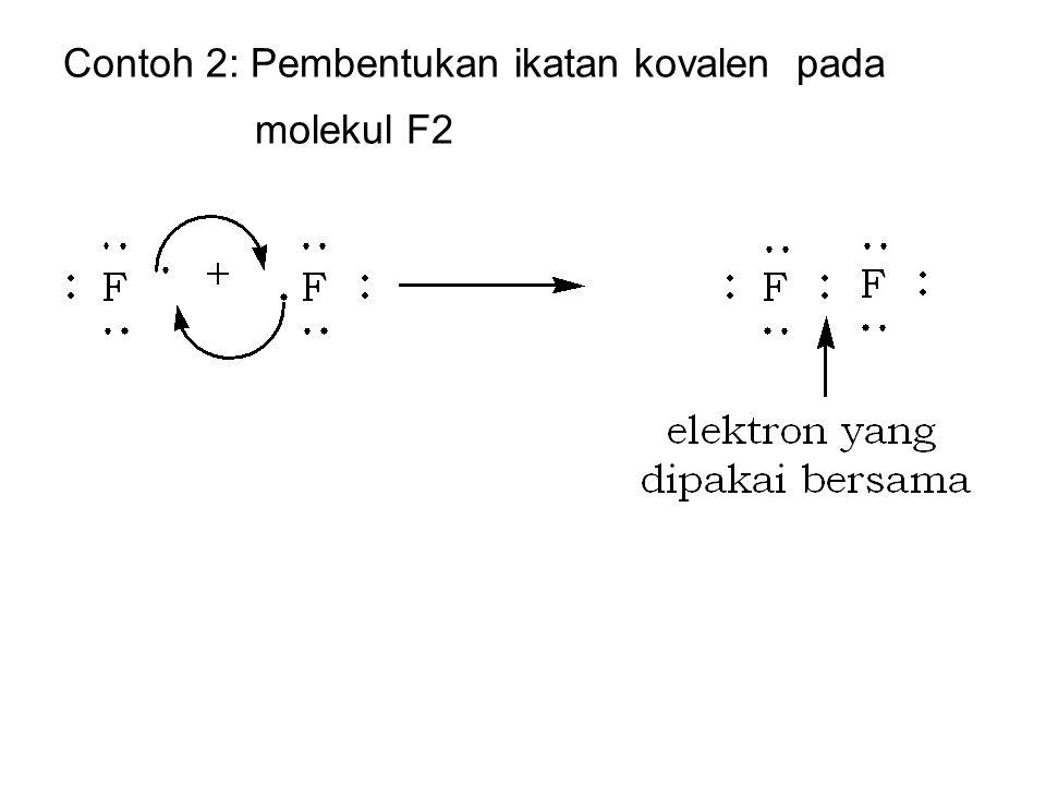 Contoh 2: Pembentukan ikatan kovalen pada molekul F2