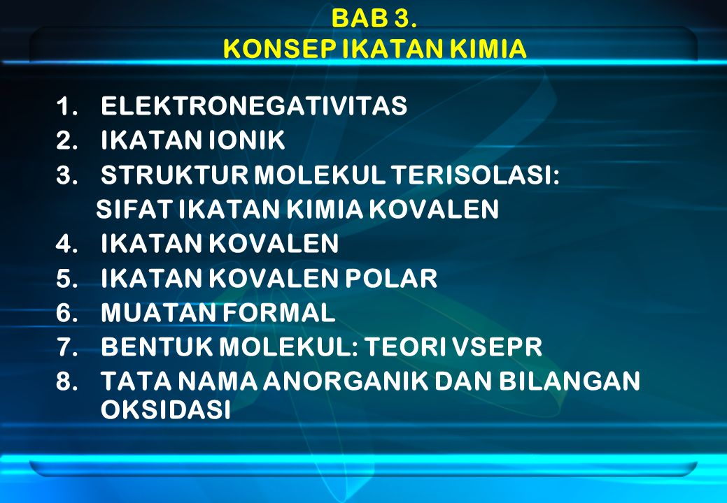 BrO 4 -  Atom pusat Br - : 8 e - val.Atom ujung O : 6 e - val.