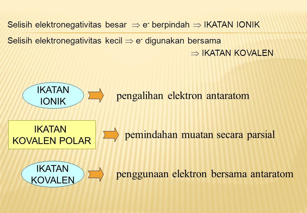Model molekul yang atom pusatnya tidak memiliki pasangan elektron bebas