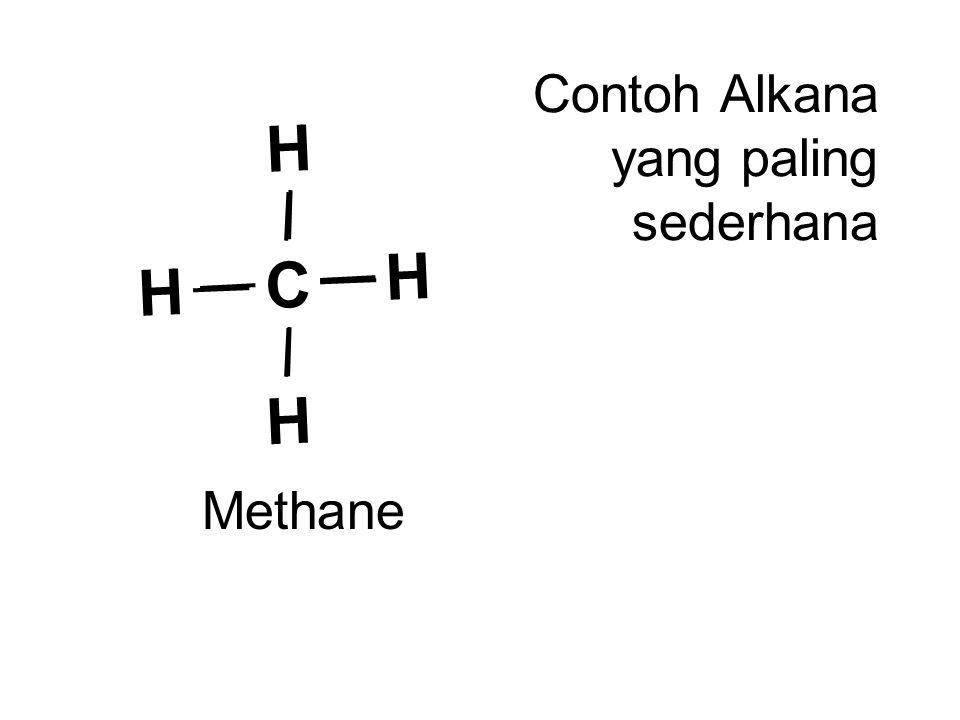 C H H H H Methane Contoh Alkana yang paling sederhana