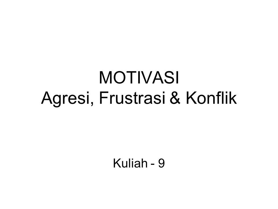 MOTIVASI Agresi, Frustrasi & Konflik Kuliah - 9