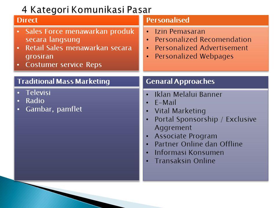  Tujuan dari usaha komunikasi pasar :  Supaya komunikasi lebih efektif dan efisien mencapai audiens sasaran.