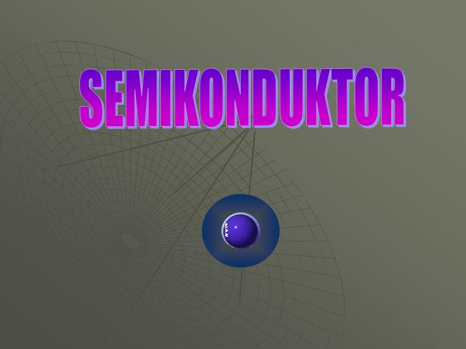 PENGANTAR  Istilah semikonduktor dipergunakan untuk zat dengan tahanan jenis dalam selang harga antara 10 -5 sampai 10 5 ohm-meter.
