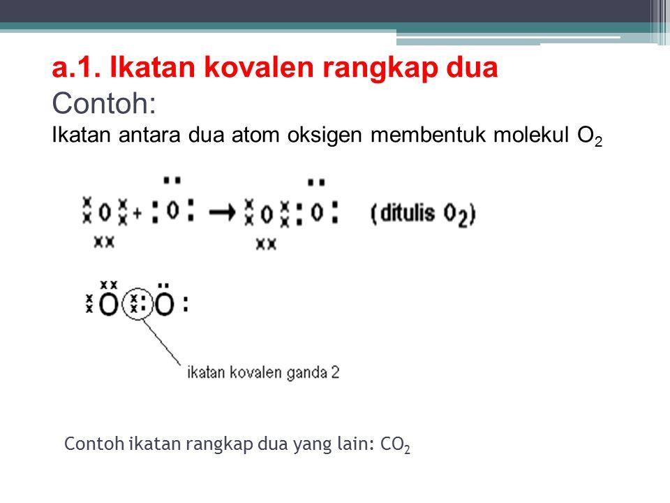 Contoh ikatan rangkap dua yang lain: CO 2 a.1.