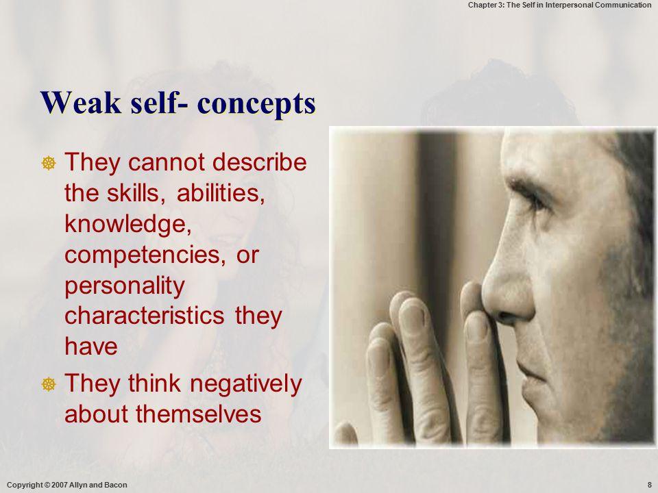 Chapter 3: The Self in Interpersonal Communication Dimensi self disclosure  Ukuran self disclosure: frekuensi, durasi pesan2 yg bersifat sc  waktu yg diperlukan  Valensi : kualitas positif dan negatif, mengungkapkan diri dengan menyenangkan/tidak.