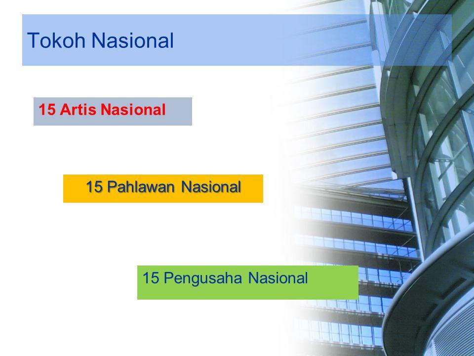 Tokoh Nasional 15 Pahlawan Nasional 15 Artis Nasional 15 Pengusaha Nasional