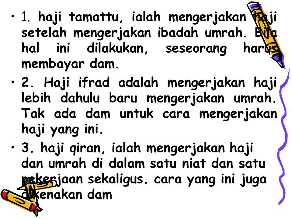 PERBEDAAN ANTARA RUKUN HAJI DAN WAJIB HAJI Rukun haji adalah rangkaian perbuatan yg harus dilakukan dlm melakukan ibadah haji.