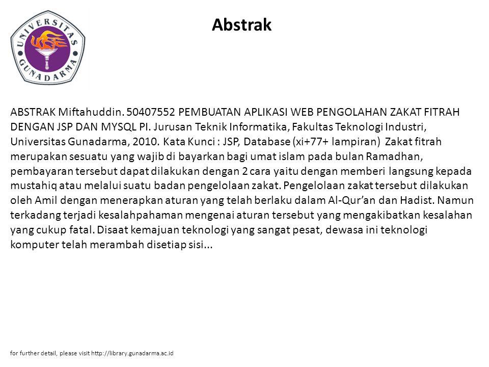 Abstrak ABSTRAK Miftahuddin.