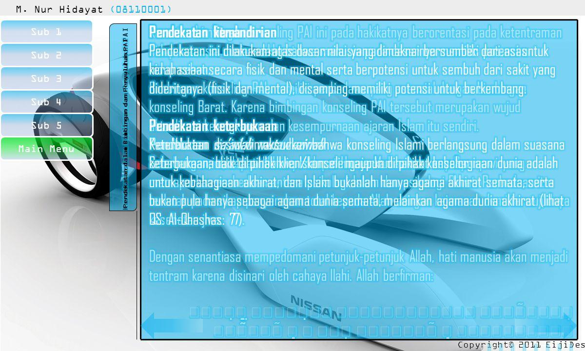 Copyright© 2011 EijiDesu™ Sub 1 Sub 2 Sub 3 Sub 4 Sub 5 Bimbingan & Penyuluhan PAI oleh Mulyono, M.A Ananda Sholikatun Nisa' (07110107) Choirul Amin (