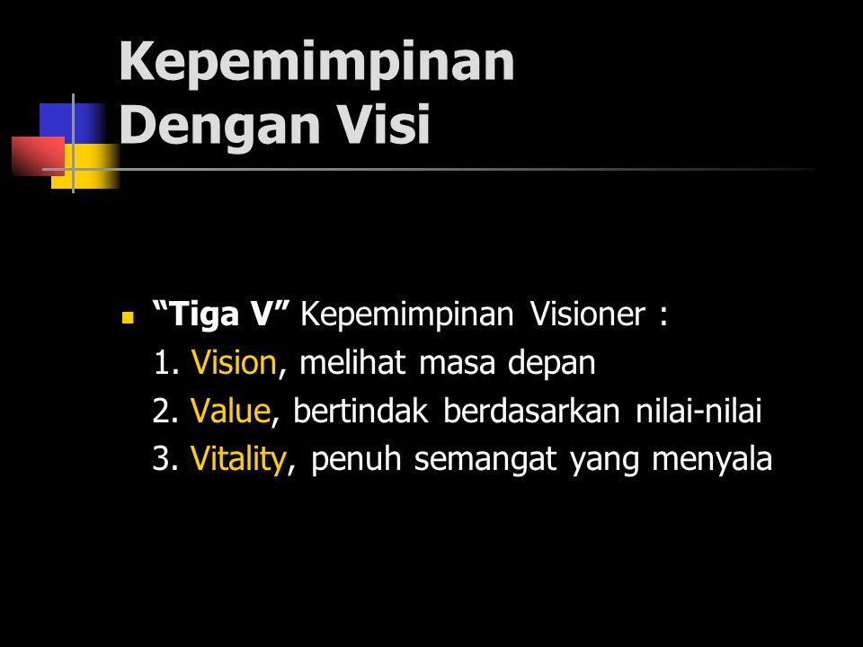 Kepemimpinan Dengan Visi Tiga V Kepemimpinan Visioner : 1.