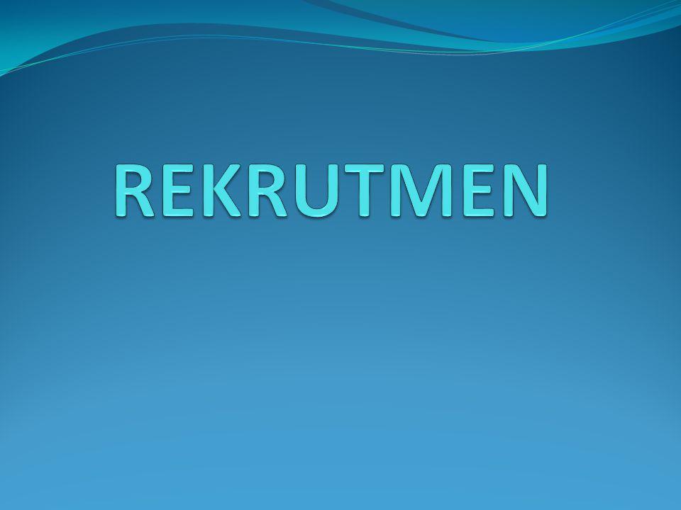 Definisi Rekrutmen (Werther & Davis 1996) Rekrutmen adalah proses menemukan dan menarik para pelamar yang memenuhi syarat untuk dipekerjakan.