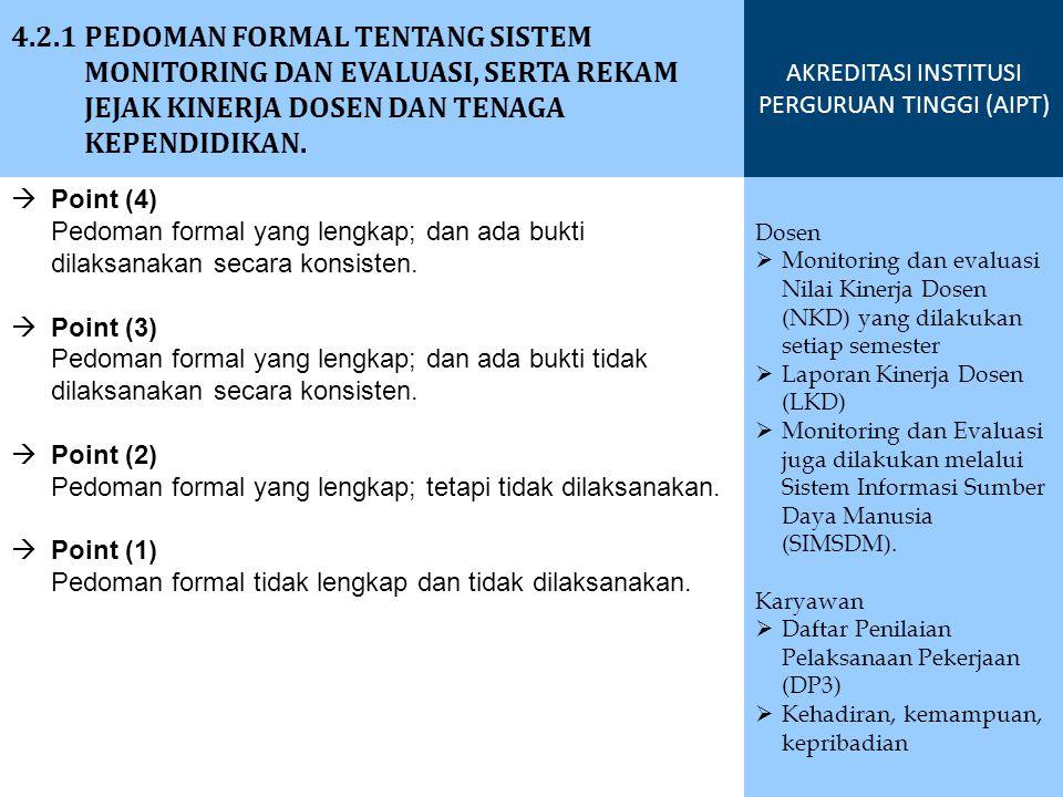  Point (2) Pemanfaatan hasil survei dalam perbaikan yang berkelanjutan untuk mutu satu dari tiga aspek berikut.