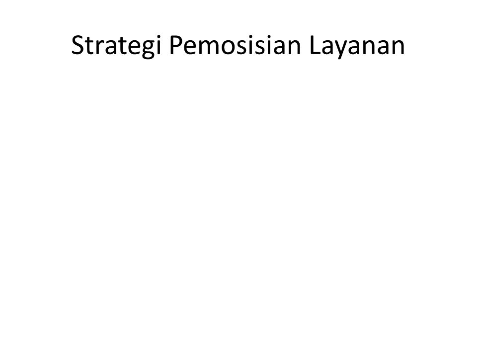Strategi Pemosisian Layanan