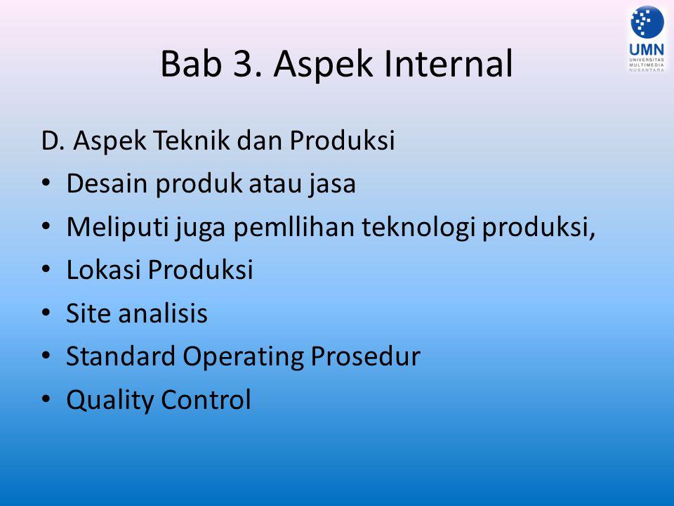 Bab 3.Aspek Internal E.