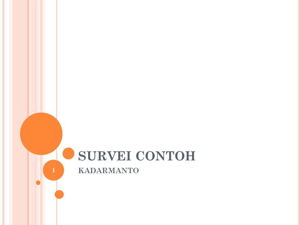 SURVEI CONTOH KADARMANTO 1
