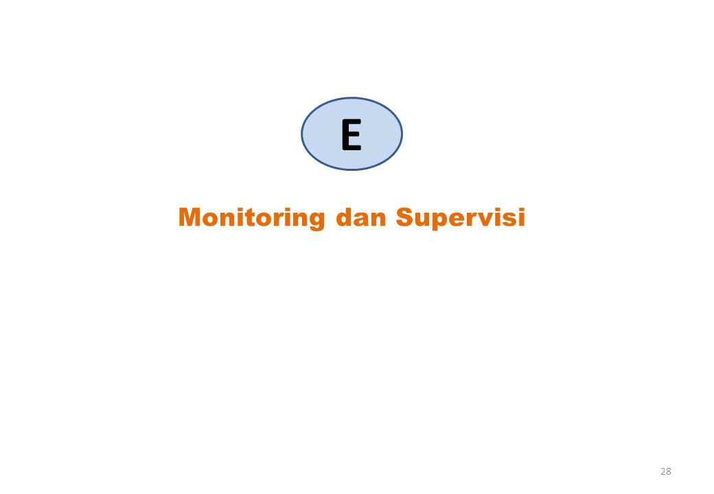 Monitoring dan Supervisi E 28
