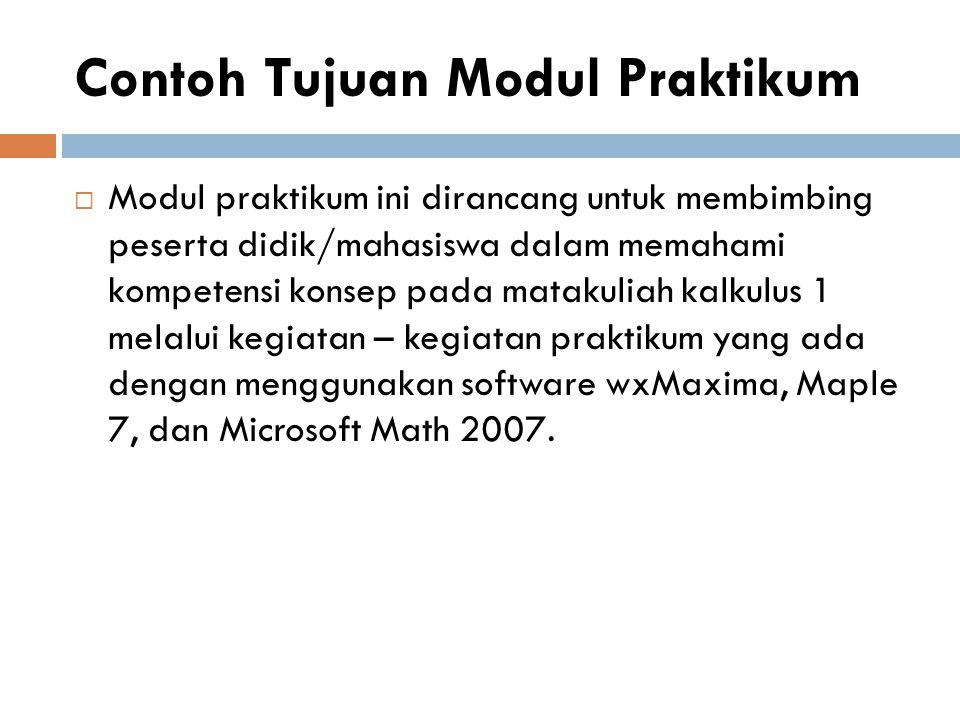 MODEL MODUL LAB II II Pendahuluan (Deskripsi, Relevansi, Tujuan) Penjajian (Informasi, Petunjuk Kegiatan) Penutup (Rangkuman, Evaluasi) 1.