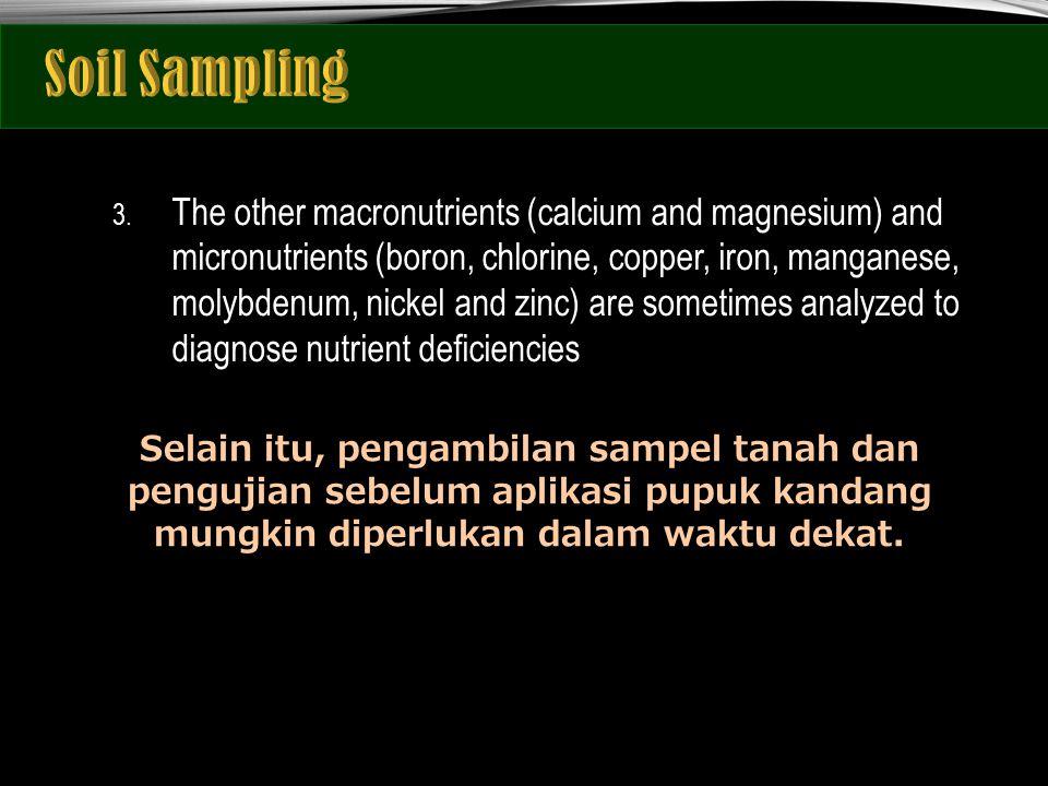 1.Mengetahui karakteristik status nutrisi tanah seakurat dan murah mungkin.