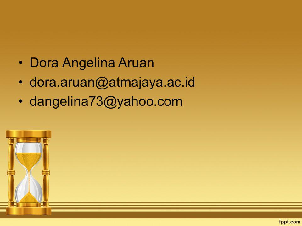 Dora Angelina Aruan dora.aruan@atmajaya.ac.id dangelina73@yahoo.com